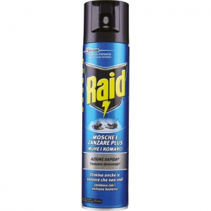 RAID SPRAY MOSCHE E ZANZARE ML 400