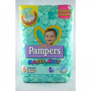PAMPERS BABY DRY MIS 6 EX.LARGE PZ 15