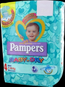 PAMPERS BABY DRY MAXI 7-18 KG PZ 19