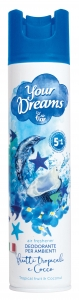 AIR FLOR YOUR DREAMS DEODORANTE AMBIENTE FRUTTI TROPICALI E COCCO ML 300
